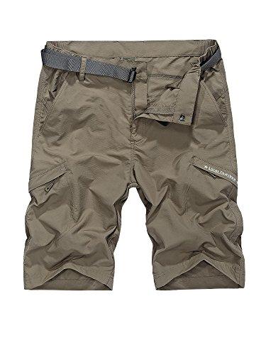 Toomett Men's Outdoor Lightweight Hiking Shorts Quick Dry Shorts Sports Casual Shorts (5516 Khaki, 40)