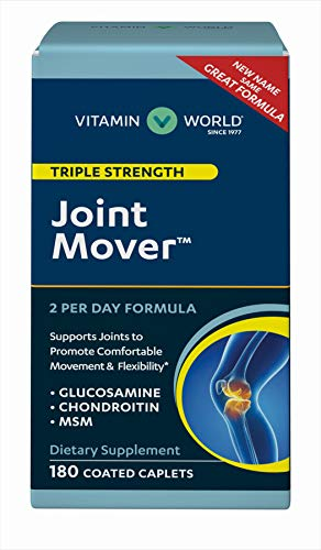 Vitamin World Triple Strength Joint Mover | Joint Support Nutritional Supplement | Feat. Glucosamine, MSM, Chondroitin to Support Joint Comfort and Flexibility, 180 Caplets