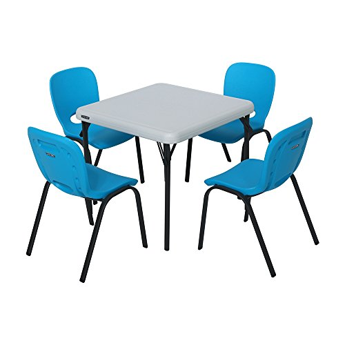 Lifetime Kids Table and Chair Set - Glacier Blue and Almond