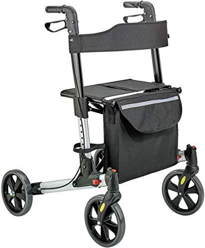 Weinberger 36122.01 Rollator lichtgewicht en opvouwbaar zilverkleurig geschikt voor binnen en buiten