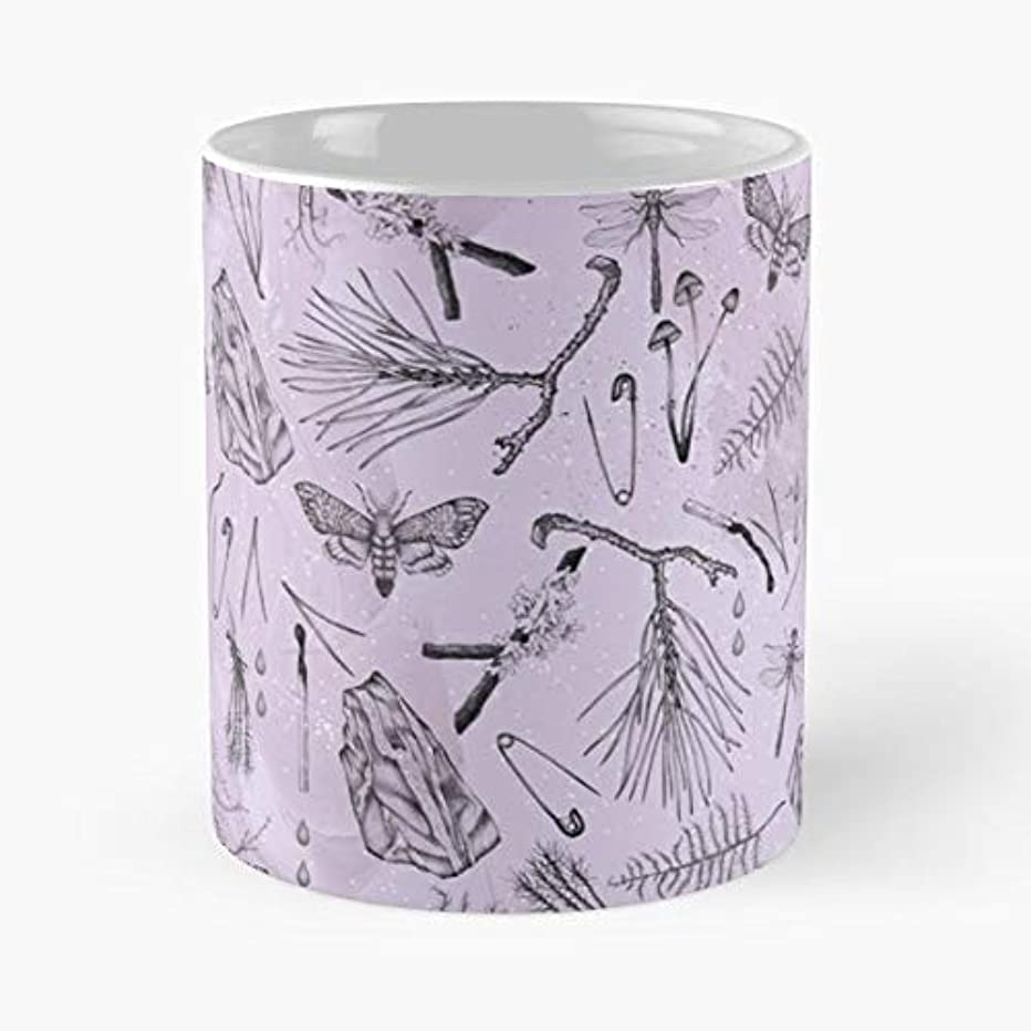 Purple Pattern Violet Color Of Year - Coffee Mugs Unique Ceramic Novelty Cup