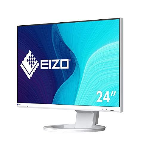 EIZO FlexScan EV2480-WT 60,5 cm (23,8 Zoll) Monitor (HDMI, USB 3.1 Hub, USB 3.1 Typ C, DisplayPort, 5 ms Reaktionszeit, Auflösung 1920 x 1080) weiß