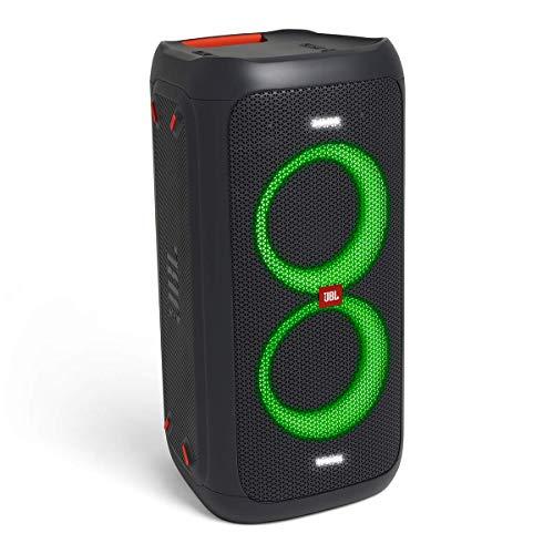 JBL PartyBox 100 in Schwarz – Tragbarer Bluetooth Party-Lautsprecher mit Lichteffekten – Spritzwassergeschützte, mobile Musikbox mit Netzteil - 8