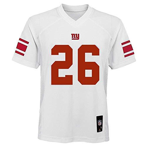 Saquon Barkley New York Giants NFL Youth 8-20 White Road Mid-Tier Jersey (Youth Medium 10-12)
