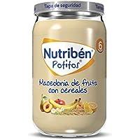 Nutribén Potitos de Macedonia de Frutas con Cereales Desde los 6 Meses, 235g, Pack de 1