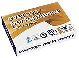 Clairefontaine Evercopy Performance 120 CIE 50067C - Papel reciclado (80 g/m², DIN A4, 21 x 29,7 cm, 500 hojas), color blanco