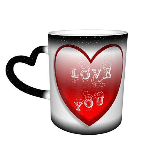 WSZOK Tazas que cambian de color – Taza de café mágica sensible al calor – Taza de té de cerámica – Perfecto para cumpleaños para hombre/mujer/mamá/esposa/padre