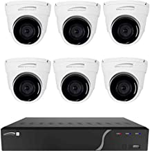 SPECO Technologies ZIPK8T2 | 8-Channel 5MP NVR with 2TB HDD & 6 x 5MP Outdoor Network-RJ45 Connection Turret Cameras, 2.8mm Lens