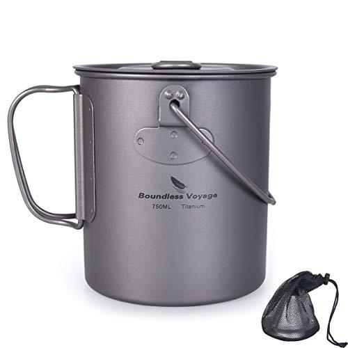 iBasingo Ti15127I Titan-Kaffeefilter mit Halterung und 750-ml-Tasse, abnehmbarer Ständer, feines Netz-Teesieb zum Steuern von losem Tee, Kaffee, Camping, Reisen, Zuhause