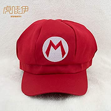 Gaoshi Super Mario Brothers Luigi Child Hat Costume Cosplay Hat for Kids (Red,Green) (Green)