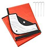 LYN Heavy Duty Survival Blanket-Emergency Blanket, Extra Large Thermal Tarp Reflective Survival,All-Weather,Water Proof, 95% Heat Retention, Tear Resistant Reusable Blanket for Car or Camping