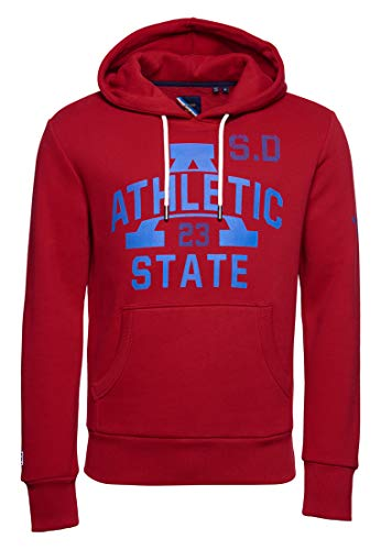 Superdry Men's classic track & field hoodie. - Red - Small