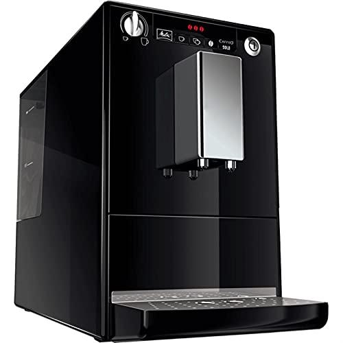 HMBB Máquina de espresso,máquina de café completamente automática,molinillo,máquina de café con leche avanzada y caño de agua caliente for café o té de la americana,acero inoxidable (Color : Black)