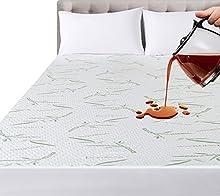 Utopia Bedding Impermeable Protector De Colchón De Bambú 150 x 200 x 30 cm, Funda De Colchón Premium, Transpirable, Estilo Ajustado Todo Elástico