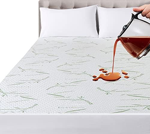 materasso matrimoniale bamboo Utopia Bedding Coprimaterasso Impermeabile in bambù - Matrimoniale (180 x 200 cm)
