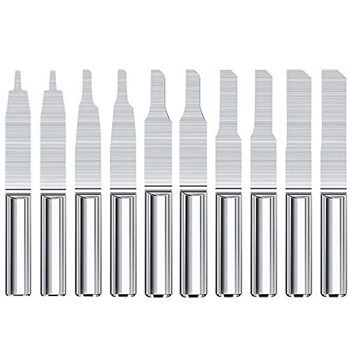 Brocas de grabado de PCB de 3,175 mm, molino de extremo de carburo de vástago con punta de 0,8-3,0 mm, brocas de tallado, cuchillo de columna de una sola flauta, herramienta de enrutador CNC