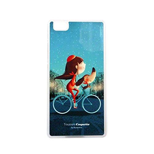 Coquette CQCT007 - Cover con disegno di bicicletta per Huawei P8 Lite