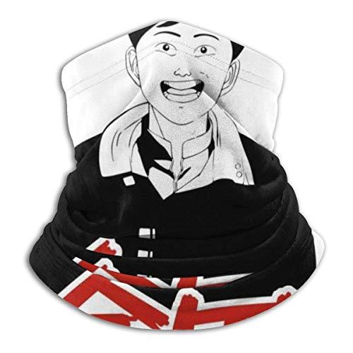 Xebcivso Akira Kaneda Schwarz-Weiß-Unisex-Multifunktions-Kopfbedeckung Bandana-Gesichtsbedeckung UV- / Staubschutz Wiederverwendbare waschbare atmungsaktive Sturmhaube