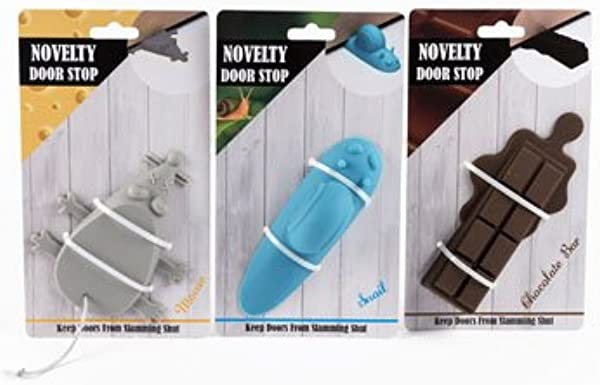 DollarItemDirect Door Stop Novelty Shapes 3 Assorted Silicone Mouse Chocolate Snail Case Of 36