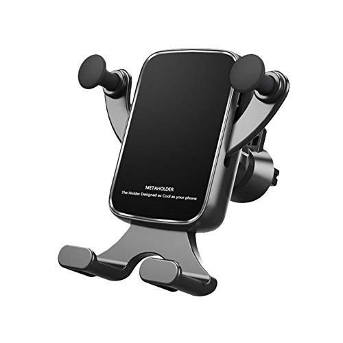 Handyhalter fürs Auto Handyhalterung Klammer Smartphone Halterung KFZ Kratzschutz für iPhone Samsung Sony Huawei Schwarz