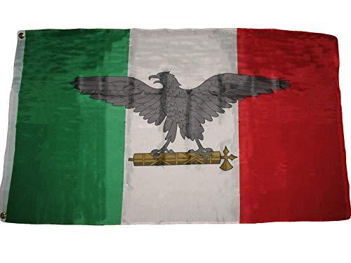 Zudrold 3x5 pies Italia Guerra Italiana fascista WW2 Águila Bandera 3x5 pies FT House Banner Premium Resistente a la decoloración