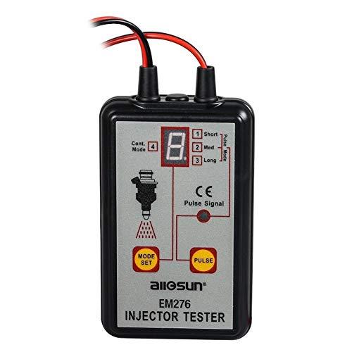 Medidor Probador Digital EM276 Probador de inyector profesional Inyector de combustible 4 Modos de prueba Probador Sistema de combustible potente Herramienta de escaneo EM276 Tester multifuncional