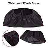 ROADFAR Waterproof 600D Winch Protection Cover Fits for 9000-17000 LB Winch