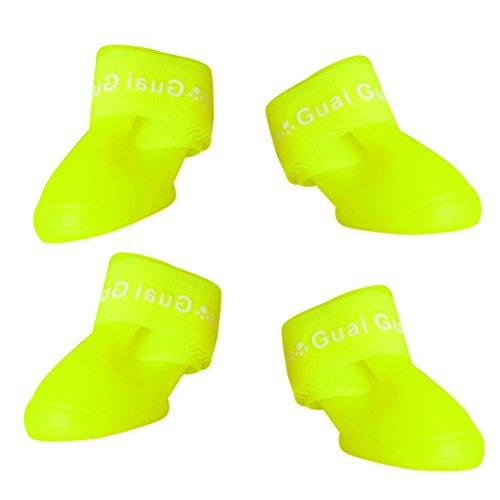 UKCOCO Botas para Perro Perrito Cachorro Mascota Zapatos Antideslizante Botas de Nieve Lluvia Botas Impermeables 4.3 x 3.3 x 4.5 cm