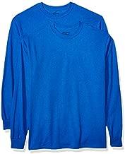 Gildan Men's DryBlend Adult Long Sleeve T-Shirt, 2-Pack, Royal, Small