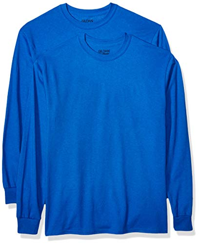 Gildan Men's DryBlend Adult Long Sleeve T-Shirt, 2-Pack, Royal, Medium