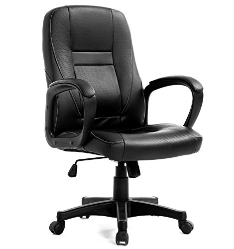 Cherry Tree Furniture swivel Perforated PU Leather Black Color Office Chair 19HH