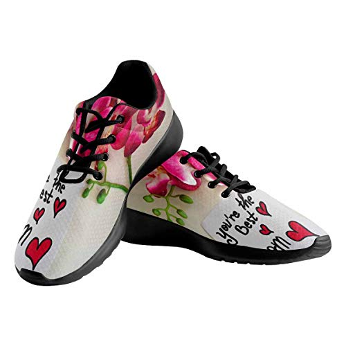 INTERESTPRINT You are The Best Mom Women's Running Sport Sneakers Breathable Lightweight Trail Running Shoes US9.5