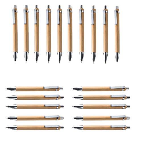 RETYLY Kugelschreiber Sets Versch. Mengen Bambus Holz Schreibger?t (20Er Set)