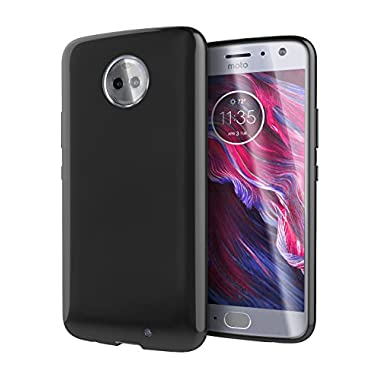 Moto X4 Case, Cimo [Grip] Premium Slim Protective Cover for Motorola Moto X4 - Black