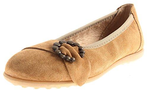 Richter Mädchenballerinas Ballerina Mädchenschuhe Schuhe Leder 72.3013 Farbe Nut, Schuhgröße 39