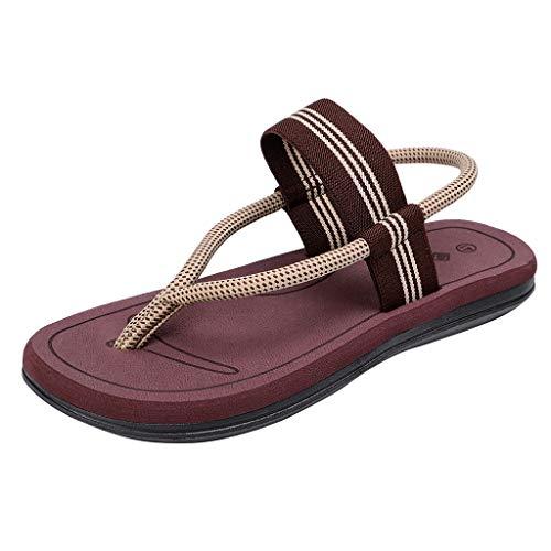 LeeMon - Sandalias de playa para mujer, estilo casual, para ir al aire libre marrón 40 EU