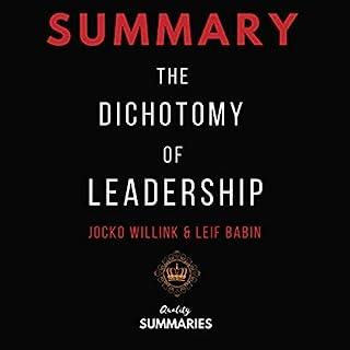 Summary: The Dichotomy of Leadership by Jocko Willink & Leif Babin audiobook cover art