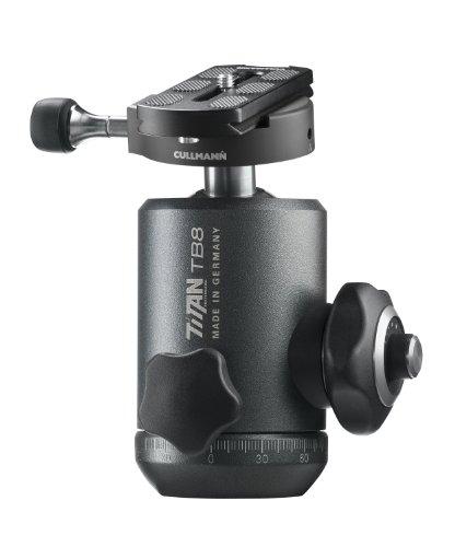 """Cullmann Titan TB8.6 Cabeza de tripode Negro 1/4"""" Ball Head - Cabeza para trípode (144 mm, 1,13 kg, Aluminio, Negro)"""