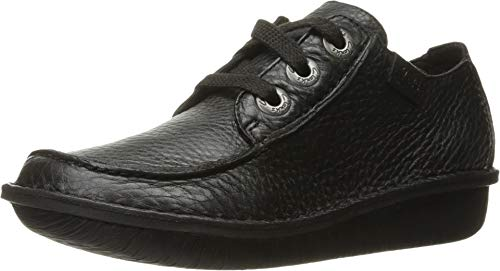 Clarks Women's Funny Dream Oxford, Black Leather, 11 M US