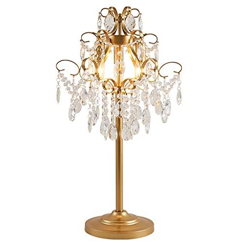 Lampara Mesilla Lámpara de mesa de cristal sala de estar dormitorio mesita de noche lámpara moderna minimalista labrado hierro cristal lámpara decorativa interruptor de la lámpara de lectura Lámpara d