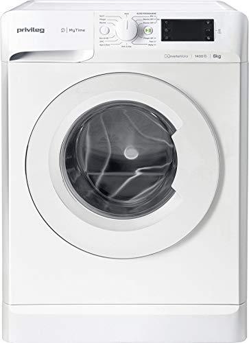 Privileg PWF MT 61483 Waschmaschine Frontlader/A+++/ 1351 UpM/ 6 kg/Startzeitvorwahl/Kurzprogramme/Eco-Motor/Wolle-Programm/Mehrfachwasserschutz , Weiss