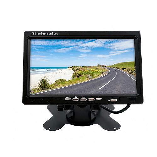 """Wen&Cheng 2 Canal 7"""" TFT LCD Moniteur Couleur + sans Fil IR Télécommande pour Auto Voiture VCR Mobile DVR Caméra de Recul"""
