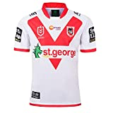 JFIOSD 2020 Saint George Rugby Jersey,Hommes Été Col Rond Manche Courte,Femmes Outdoor T-Shirts,Sport Respirant Chemise Polo,Blanc,M