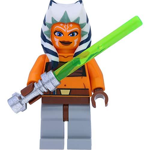 LEGO Star Wars Minifigur: Ahsoka Tano (Padawan, The Clone Wars) mit Laserschwertern