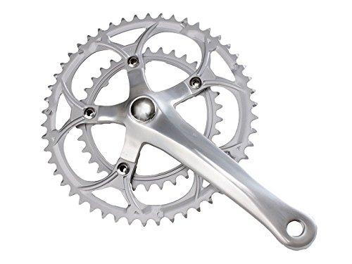 Bielas para bicicleta de montaña y de carreras (2 velocidades, 50-34 dientes, aluminio/acero)
