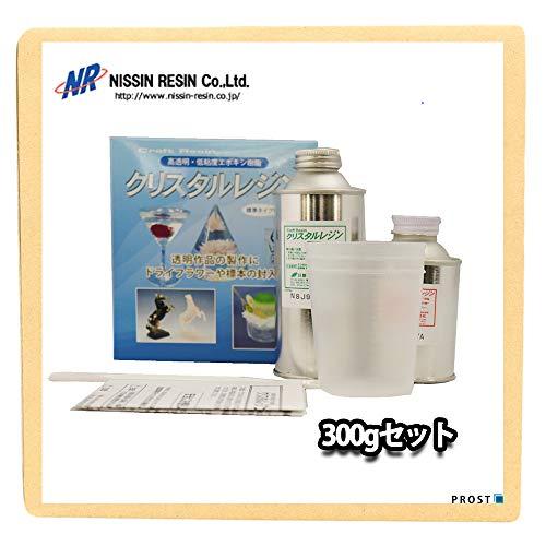 クリスタルレジン【高透明/低粘度エポキシ樹脂】300g セット