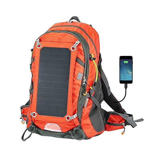 CYJ Solar Backpack Solar Panel, with Cycling Water Bag Solar Charger Laptop Backpack Suitable for Outdoor Smartphone Charging,Chrome