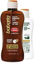 BABARIA aceite bronceador 200 ml + bálsamo after sun calmante 100 ml