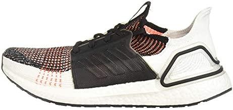 adidas Men's Ultraboost 19 Running Shoe, Black/White/Solar Orange, 8 M US