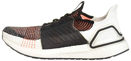 adidas Men's Ultraboost 19 Running Shoe, Black/White/Solar Orange, 8 UK